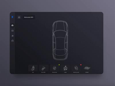 The visual representation of diagrams lists dark mode gojs diagram canvas configuration sidebar ui design car parts car darkmode automotive ui