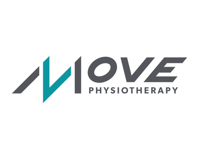 MOVE Physiotherapy Logo Set branding lettering typography design logo