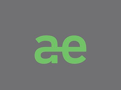 ae typography ligature diphthong logo