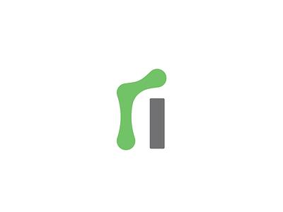 ri typography ligature logo