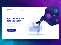 Virtual Reality Landing page exploration #1