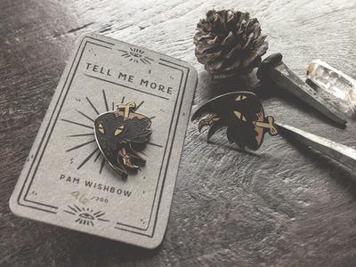 Creepy Corvid Crow Enamel Pin