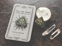 Ouija Planchette Enamel Pin