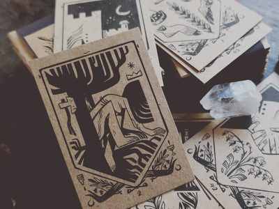 With Your Shield Or On It - Oracle Deck board game card game cards product assembly product design illustration wishbow