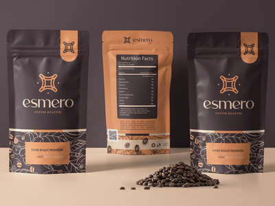 Esmero - Coffee Roasted brand identity brand design brading branding brand coffee shop coffeeshop coffee cup coffee coffe packaging design package design packaging package pack designer logotype logo design logodesign logo
