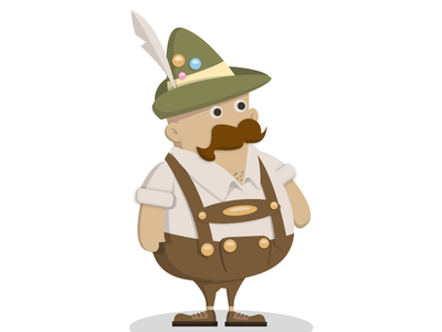 Bavarian Chap characterdesign illustration octoberfest oktoberfest germany beer lederhosen bavarian