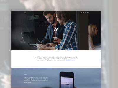 Hello Dribbble! template themeforest web website envato portfolio