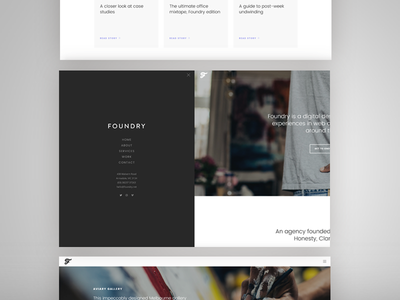 Foundry 1.5 Update portfolio agency menu navigation offscreen medium rare variant envato themeforest