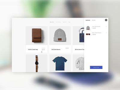Product Cards - Upcoming Template cart card fashion theme template website interface clothing product