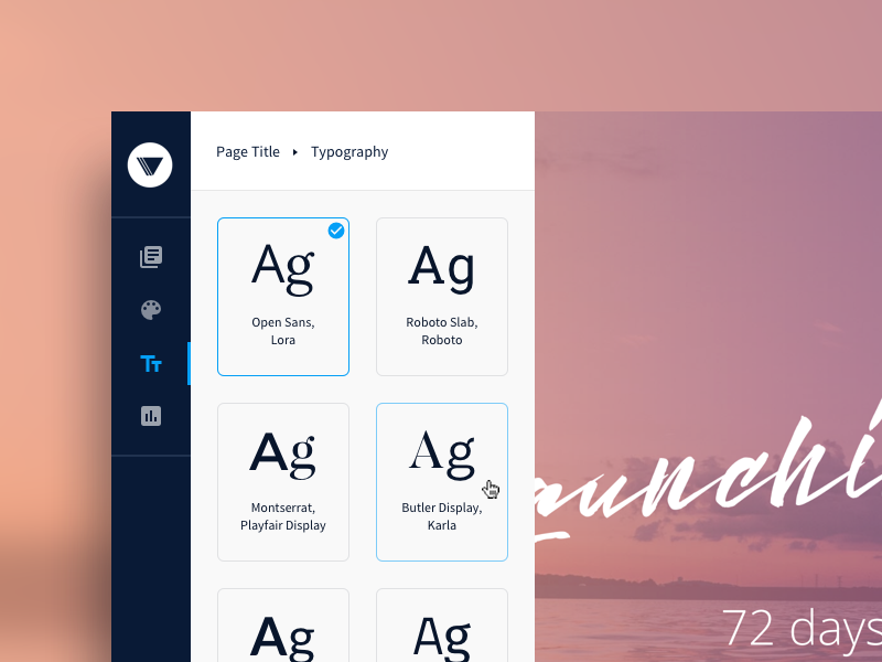 Variant Page Builder - Redesign typography web app interface ui page builder