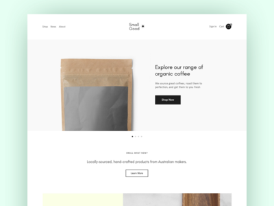 Clean E-commerce Layout