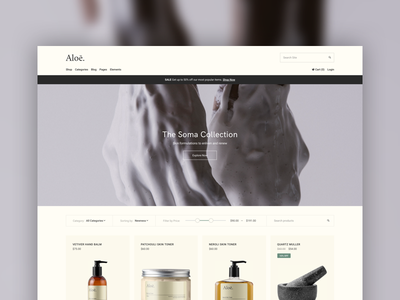 Ecommerce — Cosmetics Store fashion beauty website ui web ecommerce cosmetics theme