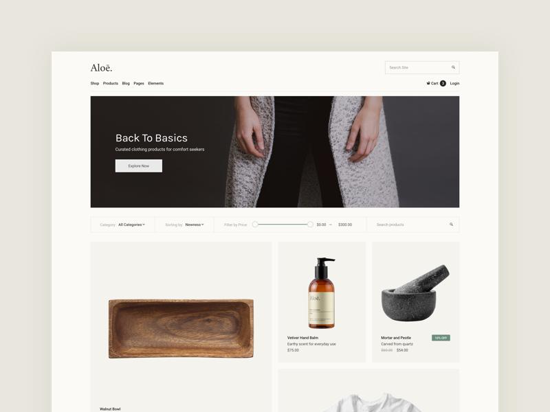 Ecommerce Store interface website fashion cosmetics homeware shop ecommerce