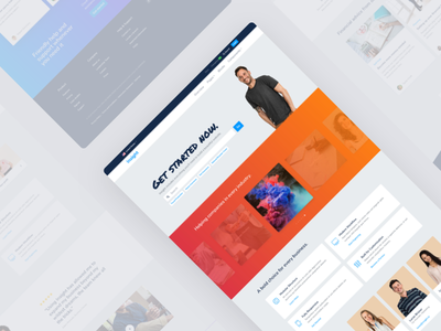 Upcoming HTML Template website layouts form serach corporate landing gradient html template theme bootstrap