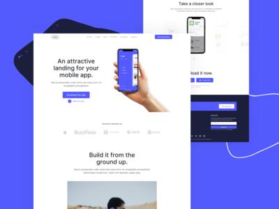 Upcoming HTML Template - Mobile Application Landing