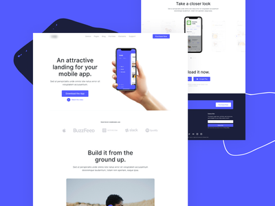 Upcoming HTML Template - Mobile Application Landing bootstrap 4 wordpress html bootstrap landing application mobile design interface template website