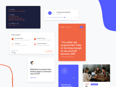 Upcoming HTML Template - Components