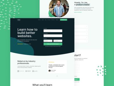 Upcoming HTML Template - E-Learning Landing