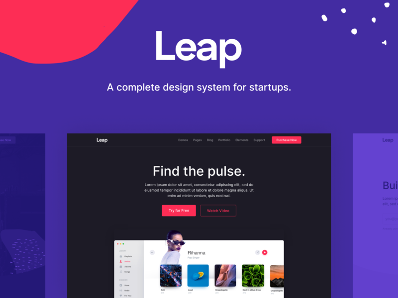Leap - Multipurpose Bootstrap Template OUT SOON theme landing app interface ui kit bootstrap web html website template