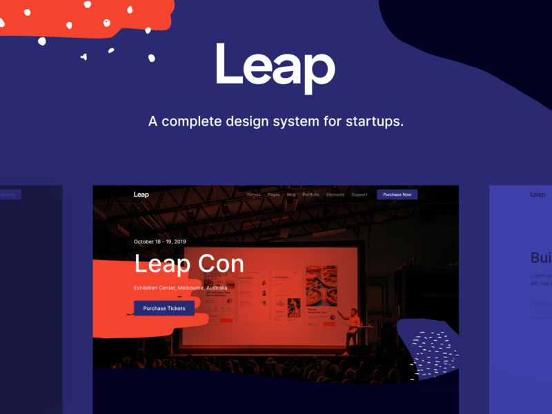 Leap - Multipurpose Bootstrap Template html landing startup landing page theme startup ui bootstrap event website template