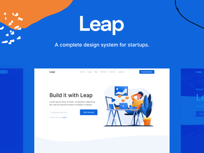 Leap - Multipurpose Bootstrap Template saas svg landing web illustration html bootstrap interface theme template