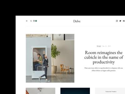 Delve - Upcoming E-Commerce Magazine Template