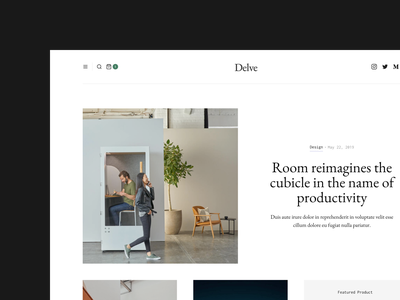 Delve - Upcoming E-Commerce Magazine Template editorial e-commerce magazine template website