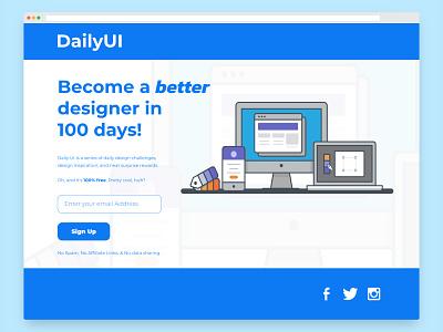 DailyUI 100 DailyUI Landing Page landing page dailyui 100 figma design ui affinityphoto affinity photo graphic design uxdesign uidesign dailyui