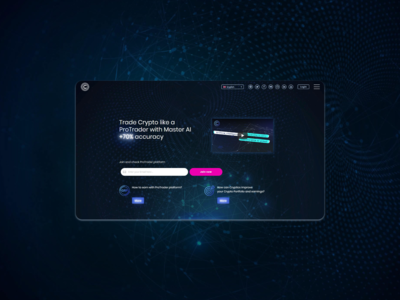 Landing page for the ProTrading project