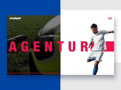 kampfgeist - Webdesign & Interaction advertising sports design animation ineraction design parallax webdesign