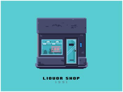 liquor shop - pixelart