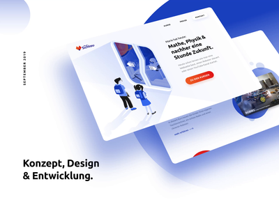 Intro screen for Behance