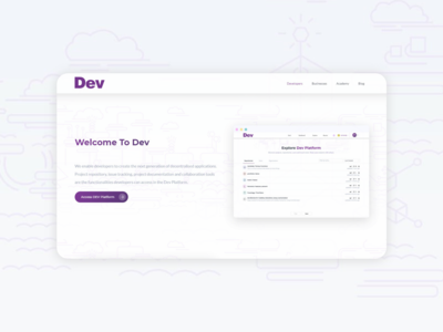 Landing page for it agency