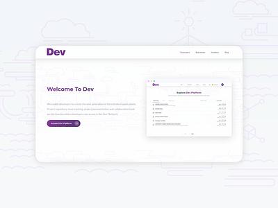 Landing page for it agency minimal website flat design webagency web design web ui