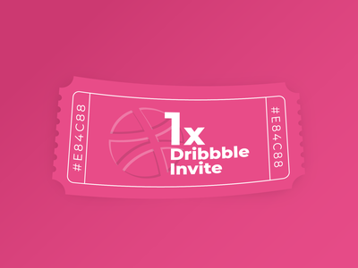 Dribbble Invite Giveaway invite giveaway dribbble invite vector web illustrator illustration ui minimal flat design invite