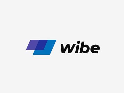 Wibe Identity Design brand design brand vector typography app icon branding flat minimal logotype logo design logo design
