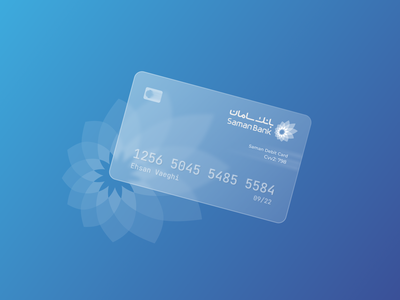 Saman Bank Glass Card card ux ui branding minimal glass flat design
