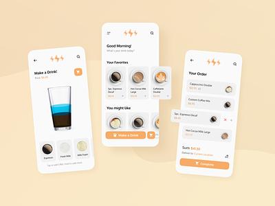 Coffee Shop App UI experience interface user application web branding shop icon app ux ui minimal flat design