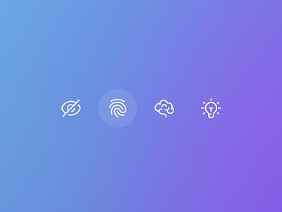 Intelligent Security Icons icons icon branding logo app minimal flat interface experience user ux ui design