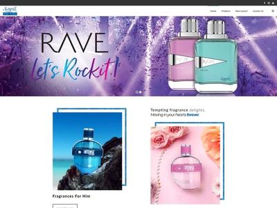Perfume brand website design