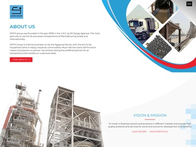 Industrial group website design