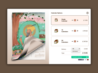 Mahala9 ordering stripe sikh design website 2021 calendar