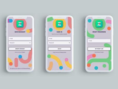 Login/Signup - Zonder Mobile App UI