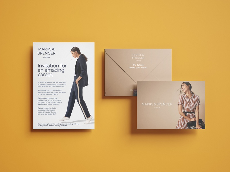 Employer Branding | Marks & Spencer branding design branding human resources career print design invatation employer branding envelope retailer