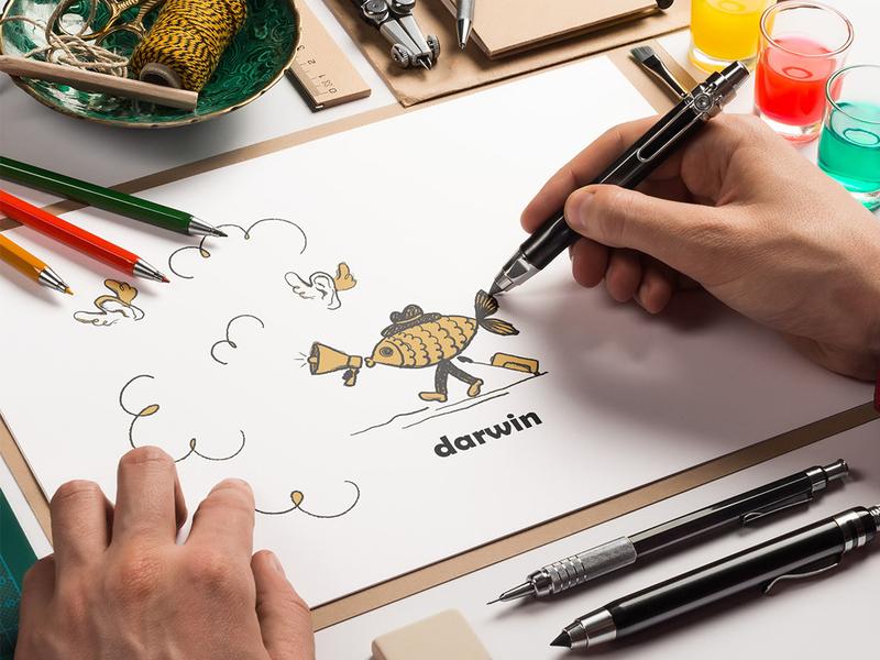 darwin darwin brand brand design branding design brand identity branding logo