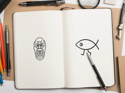 darwin sketchbook logo design brand design branding brand identity branding design