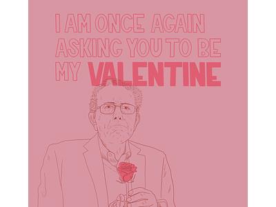 Bernie Sanders Valentine lettering illustration portrait bernie sanders