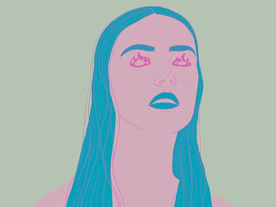 Anger color palette color portrait illustration