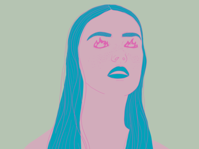 Anger color palette color portrait illustration