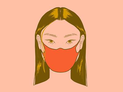 Wear Your Mask portrait mask covid illustration